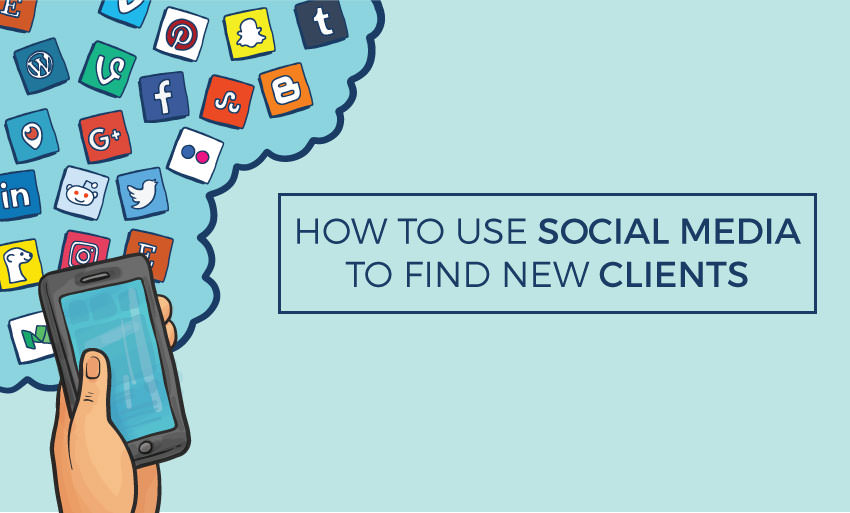 ways find new clients using social media