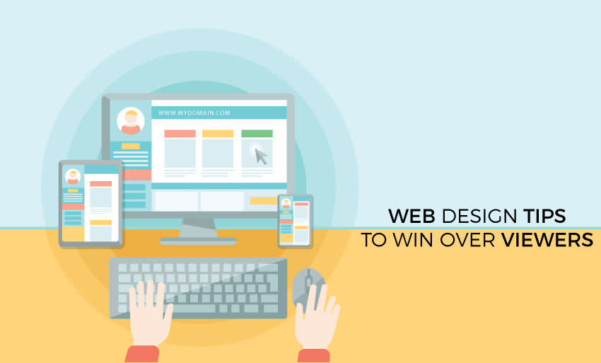 web design tips win viewers
