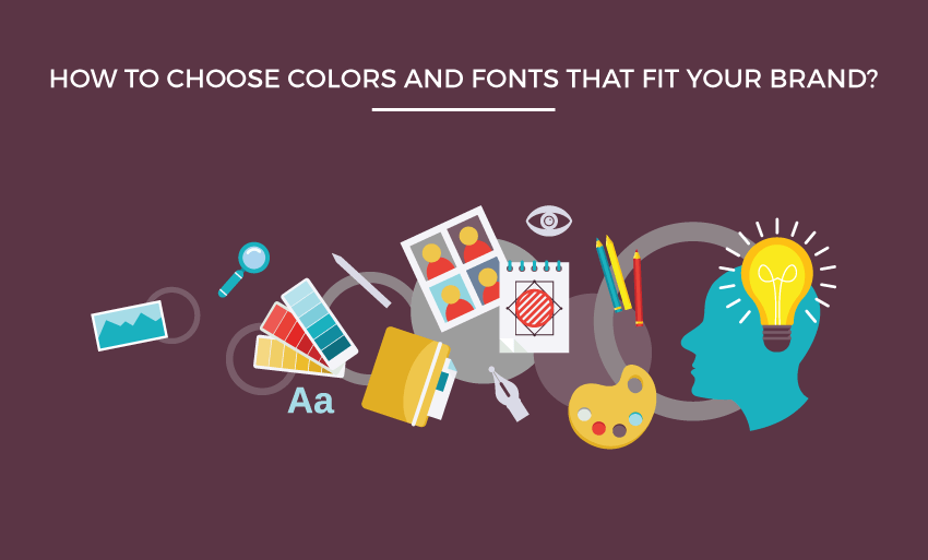 choose colors fonts fit brand