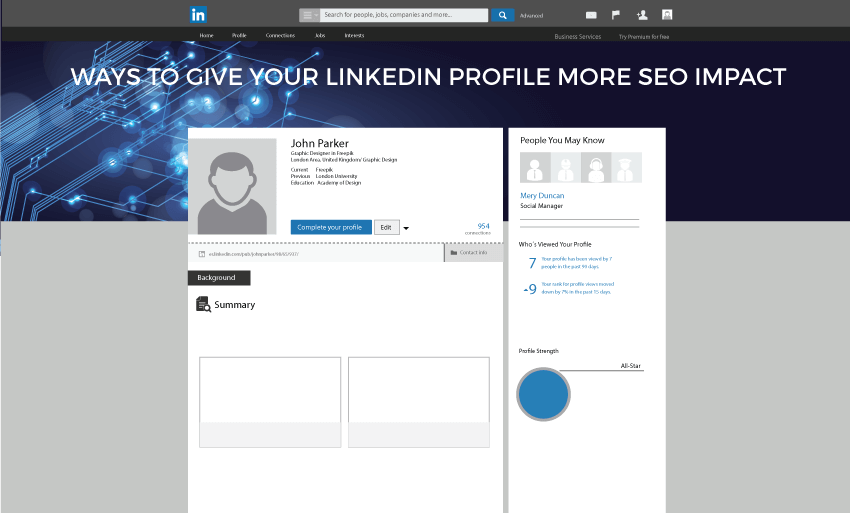 ways give linkedin profile seo impact