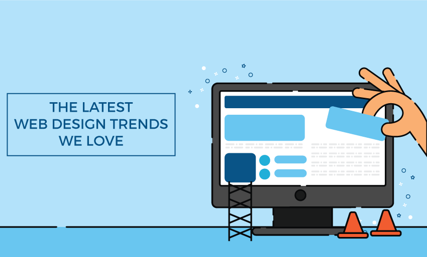 latest web design trends love