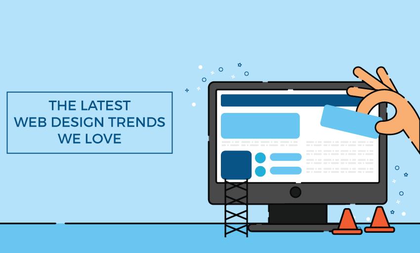 latest web design trends love