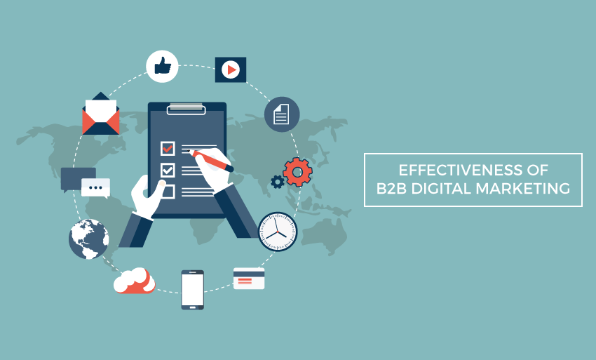 effectiveness b2b digital marketing